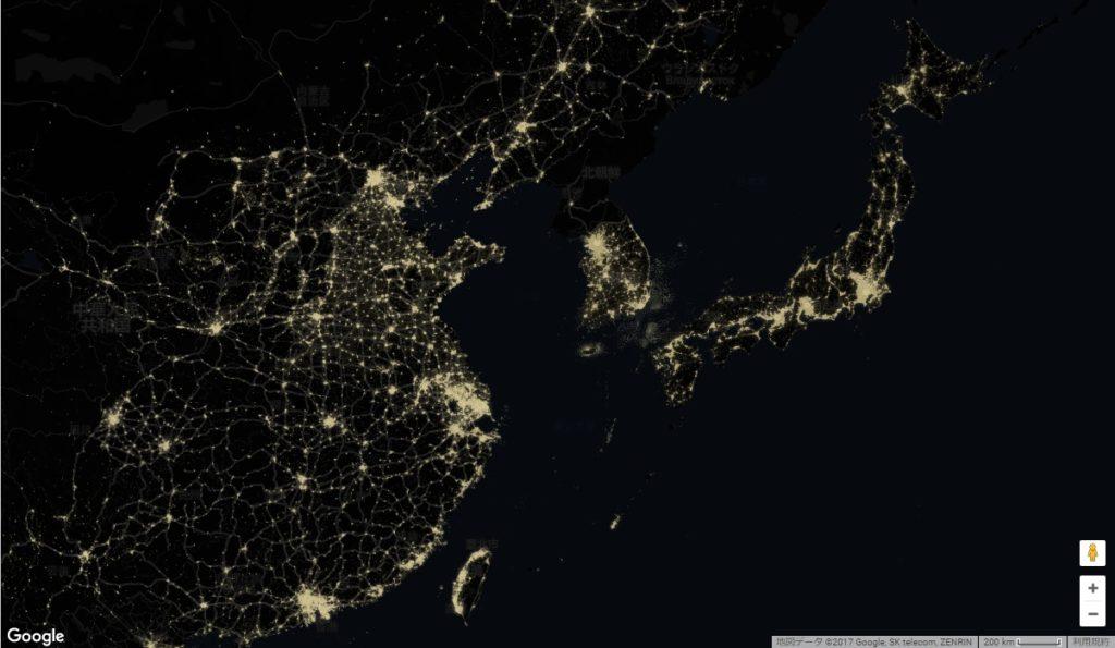 宇宙から見た日本