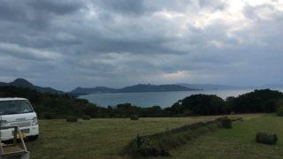 流れ星の丘での牧草収穫