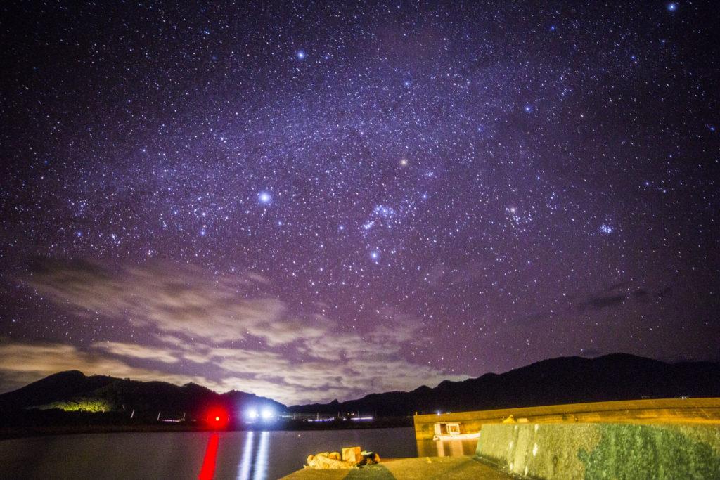 石垣島伊原間漁港の星