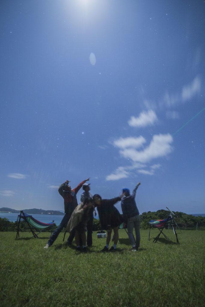 石垣島久宇良月夜の星