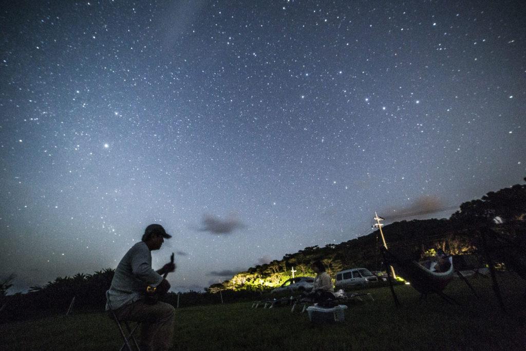 石垣島の星空ツアー星空三線