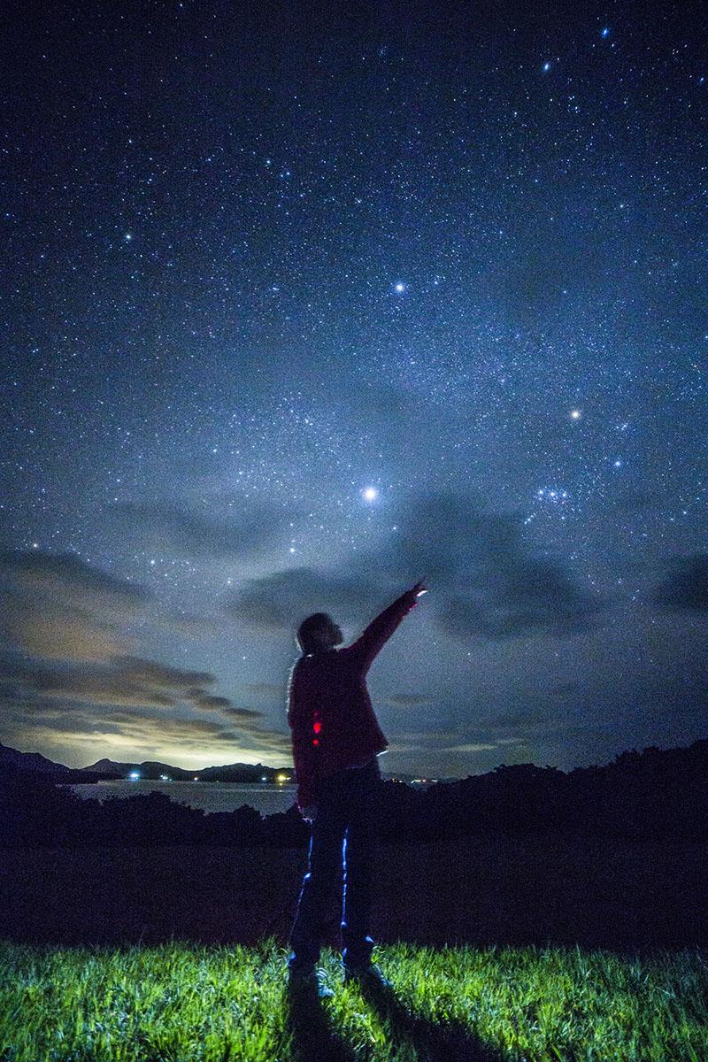 石垣島の星空ツアー星を目指す人