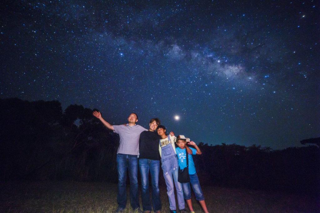 星空保護区の天の川で星空写真