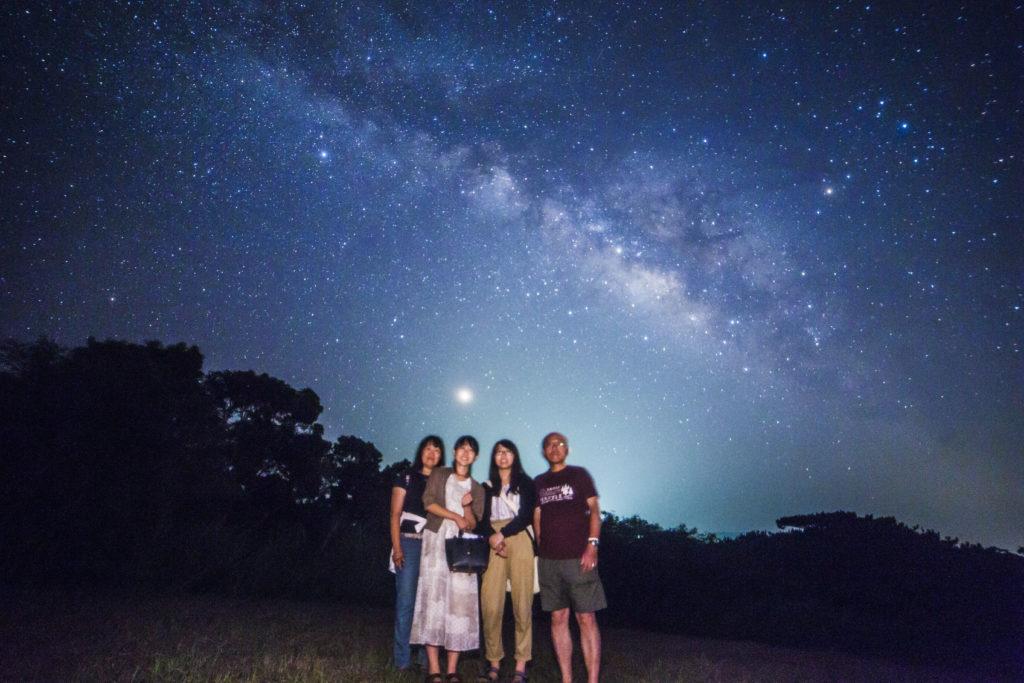 石垣島星空保護区の天の川で星空ツアー