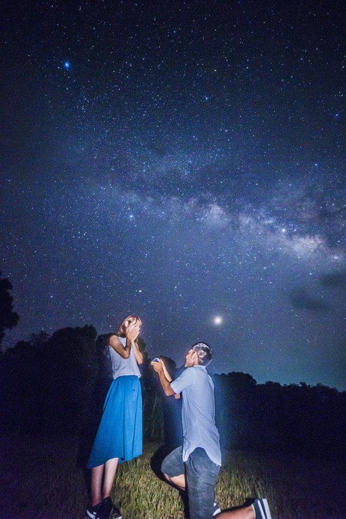 天の川の下でプロポーズ大作戦