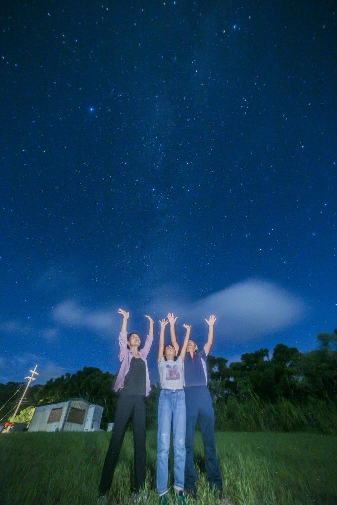 石垣島の星空保護区 半月の星空