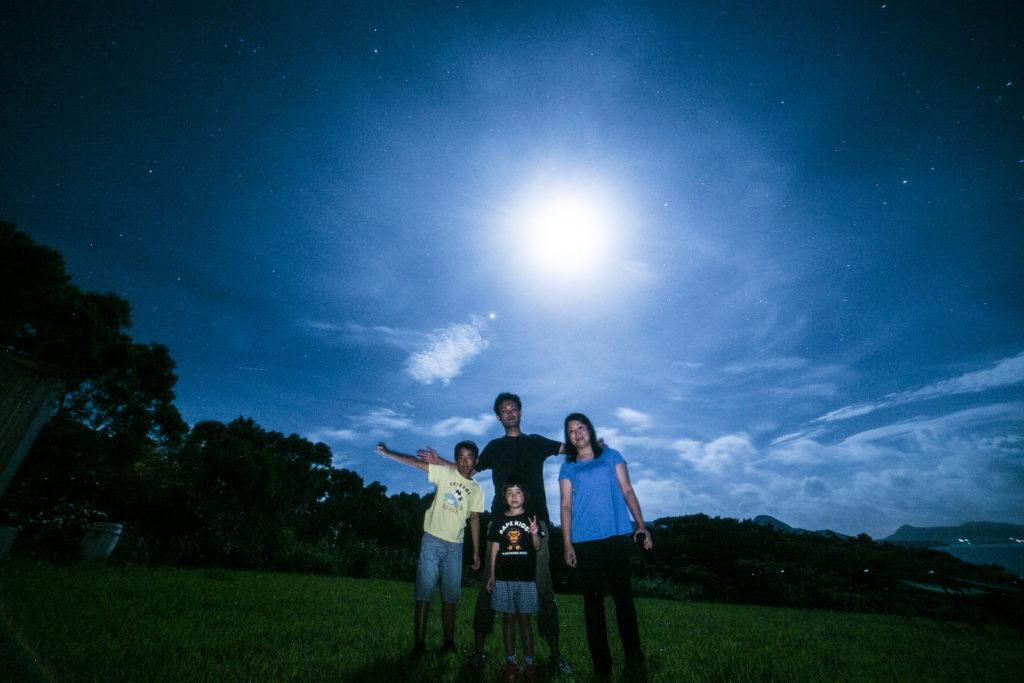 星空保護区で見る石垣島の月