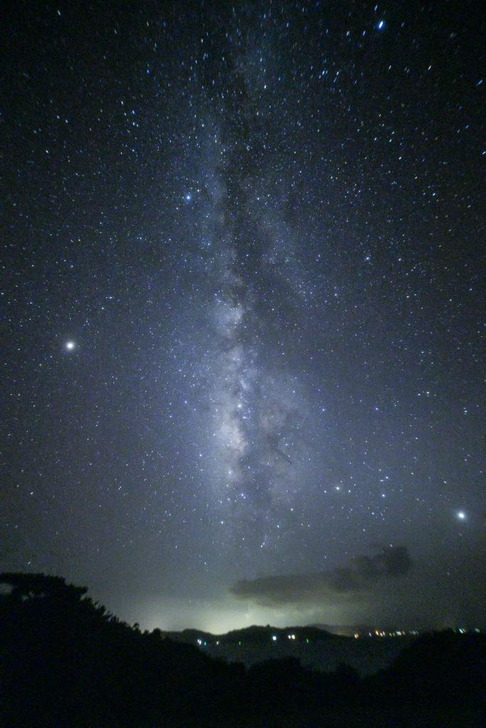 流れ星の丘台風後の天の川星空保護区2