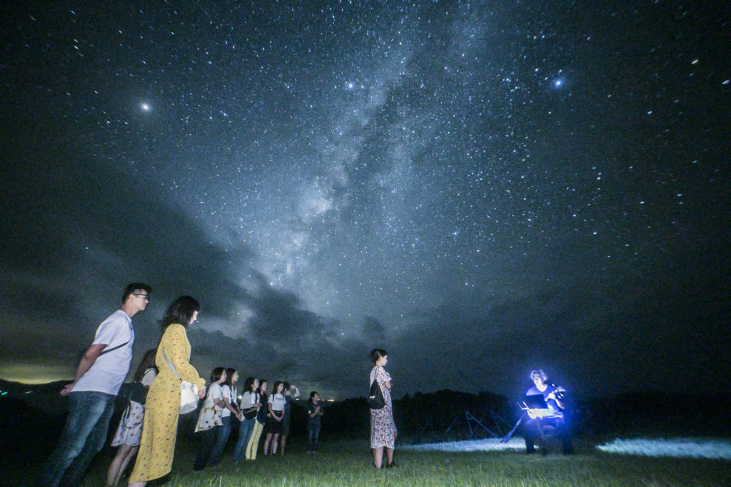 流れ星の丘 プロポーズの 星空保護区のツアー
