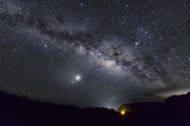 流れ星の丘 天の川